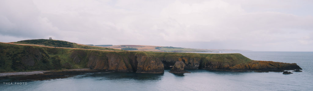 Beautiful cliffs as seen from the castle