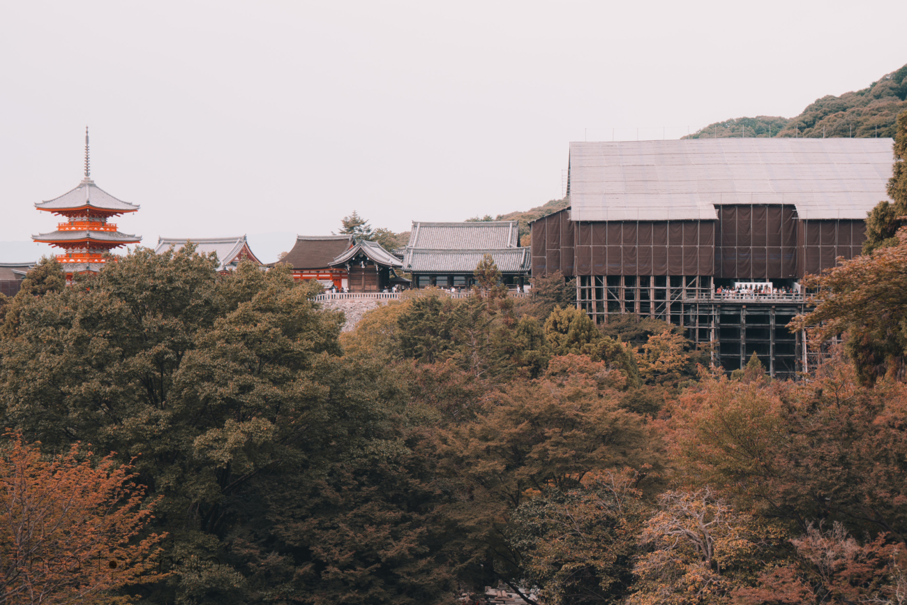 The Kiyomizu Temple was under constructions, still a beautiful temple to visit