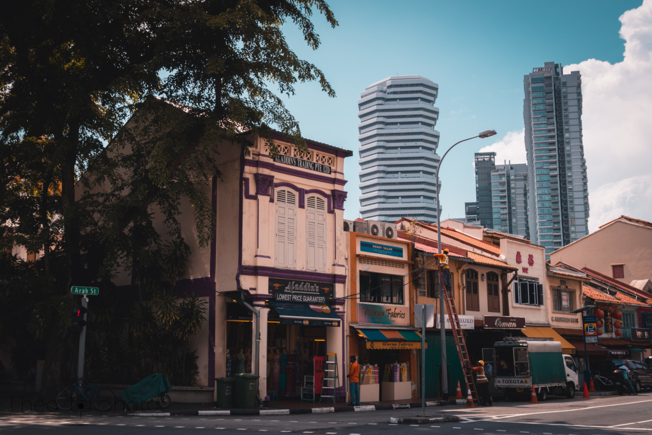 Arab Street where you will find lots of restaurants